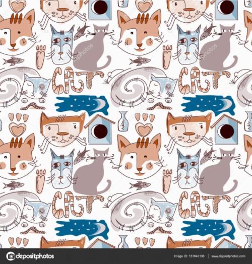 Wallpaper De Gato Dos Desenhos Animados Para Seu Projeto Gatos