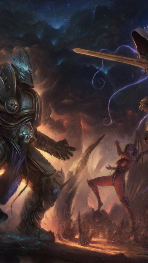 Starcraft Heroes Of The Storm Diablo Sarah Kerrigan Arthas