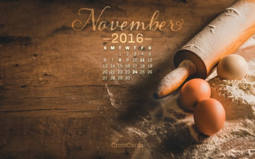 34837 November 2016 Baking With Crosscards Monthly