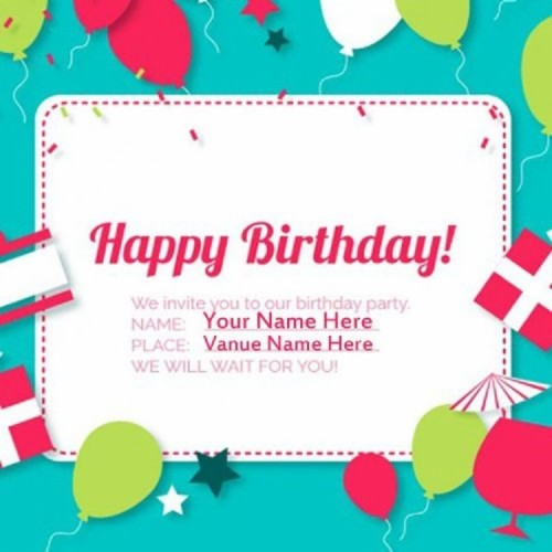 Online Happy Birthday Card With Name Edit Best Of Happy