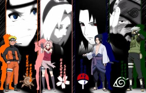 Anime Naruto Hatake Kakashi Uchiha Sasuke Uzumaki