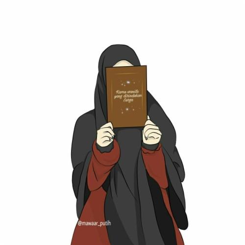 Download Gambar Kartun Muslimah Cantik Terbaru 2019 Tahun Ini