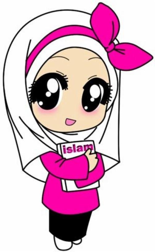Gambar Kartun Anak Muslim Perempuan Animasi Wanita Berhijab Hitam Putih 455638 Hd Wallpaper Backgrounds Download