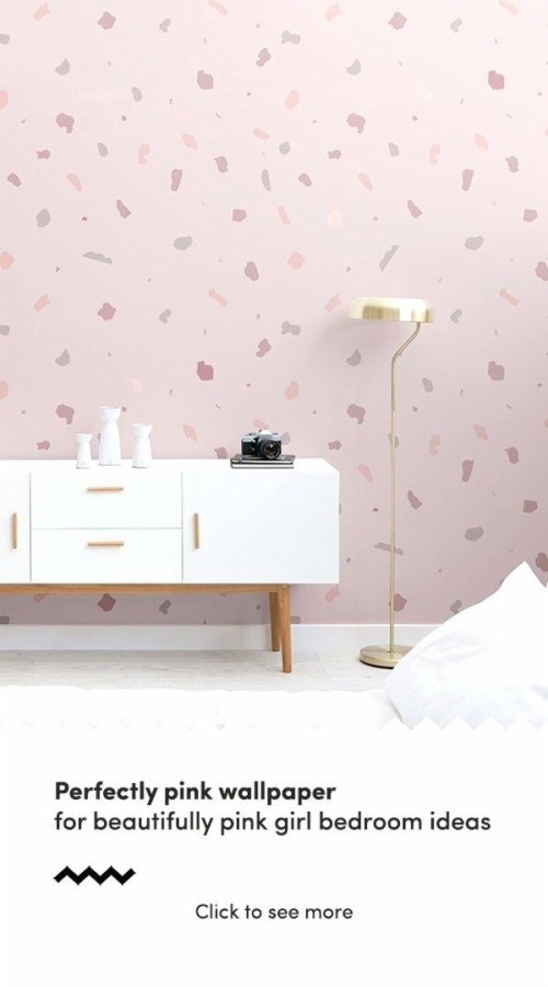 Baby Girl Nursery Removable Wallpaper Dusky Pink Terrazzo ...