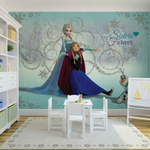 Frozen Wallpaper Anna Elsa /& Olaf Kids room Wallpaper
