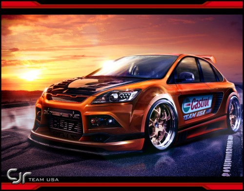 Wallpaper Mobil Sport Modifikasi 3d