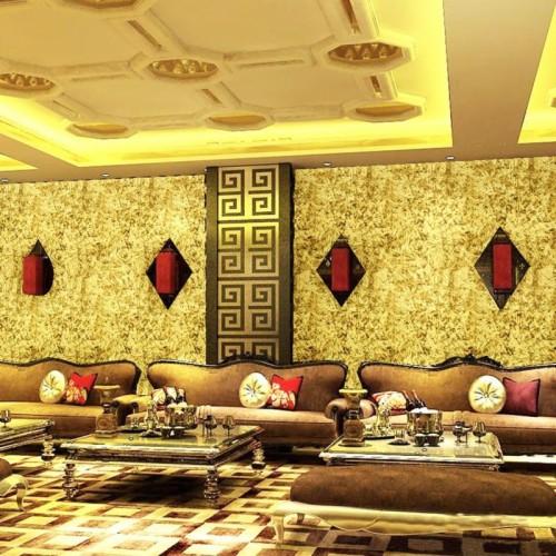 Modern Bling Glitter 3d Wallpaper Rolls Gold Foil Wall