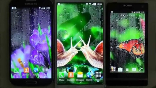 Water Drops Live Wallpaper For Android Phones And Tablets