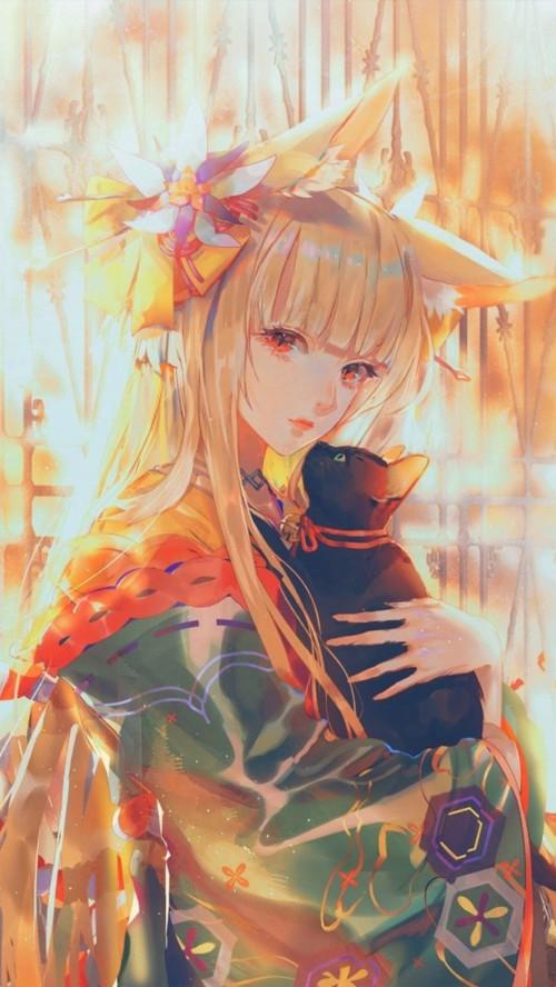 Anime Girl With Cat Anime Wallpaper 4k Phone 69939 Hd