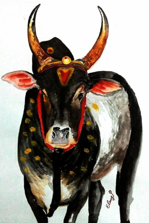 drawn bulls jallikattu kaalai jallikattu cow painting 608664 hd wallpaper backgrounds download drawn bulls jallikattu kaalai