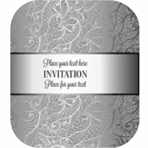 Baroque Background With Antique Luxury Black And Silver