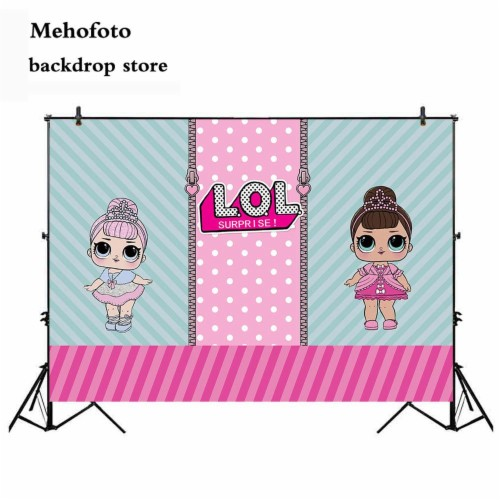 LOL Surprise Girls Party Happy Birthday Photography Backdrop Photo Background