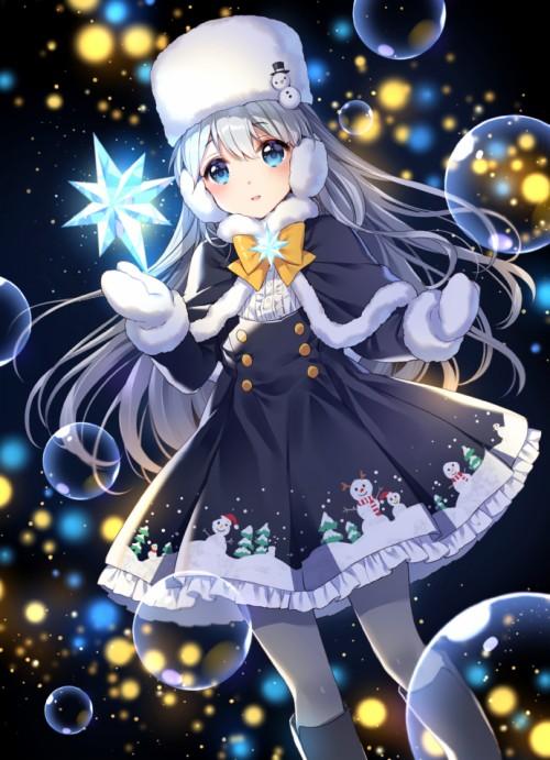 Kafuu Chino Mobile Wallpaper Cute Christmas Anime Girls