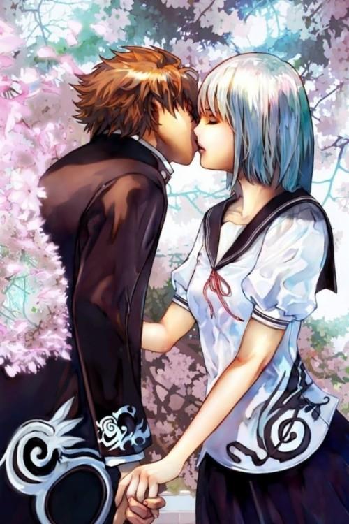 69 695791 3d couple wallpaper cherry blossom anime love