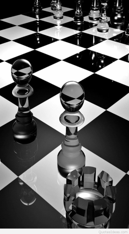 7 79458 glass chess pieces 3d mobile wallpaper 4458 glass