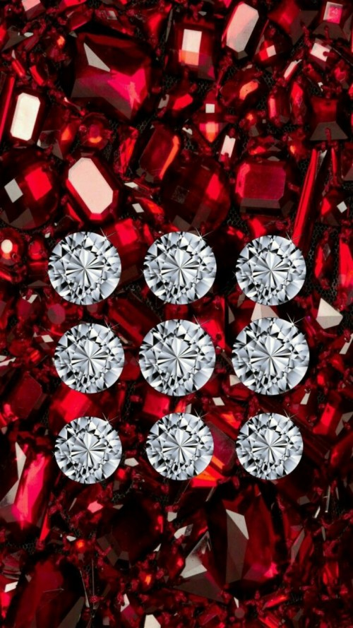 Diamond And Ruby Iphone Pattern Lock Screen Wallpaper Ruby
