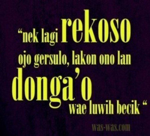 Kata Kata Lucu Bahasa Jawa Buat Status Fb Poster 728728