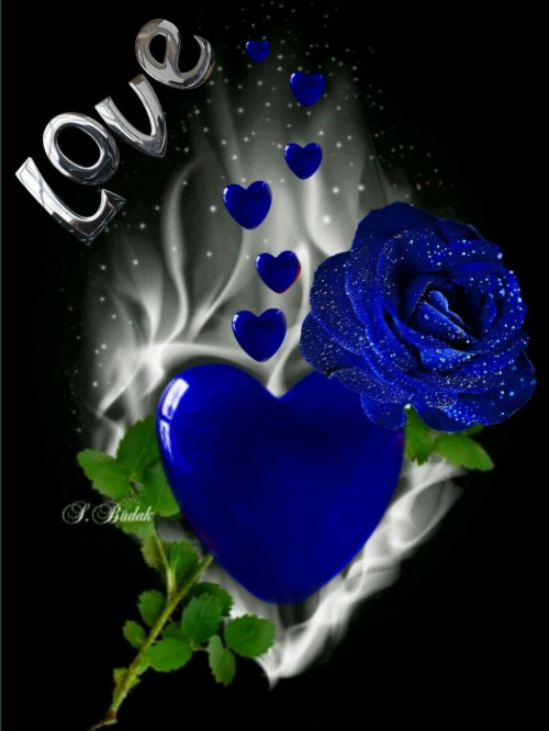 Romantic Love Couple Heart Painting Love Images Love Romantic Blue Rose 734958 Hd Wallpaper Backgrounds Download