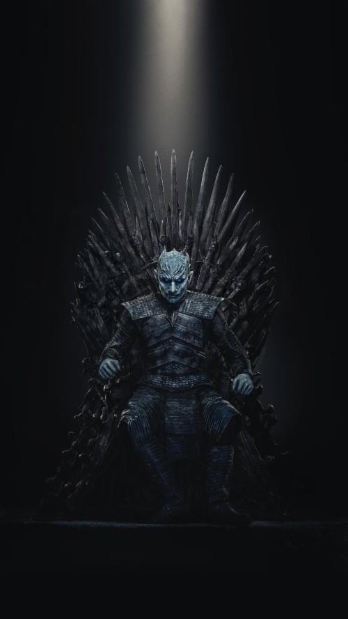Spoilersspoilers Night King Iron Throne Wallpaper Night