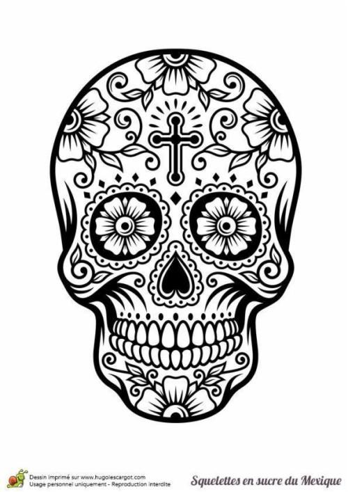 Epic Coloriage De Tete De Mort A Imprimer 32 Sur Pages - Dessin Tete De Mort (#835664) - HD ...