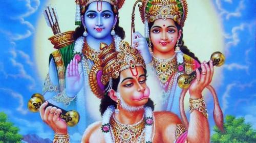 Hanuman Rama And Sita (#1118353) - HD Wallpaper & Backgrounds Download