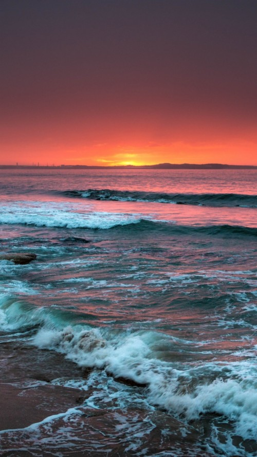 Wallpaper Sea Surf Sunset Waterfall Natura Images Good