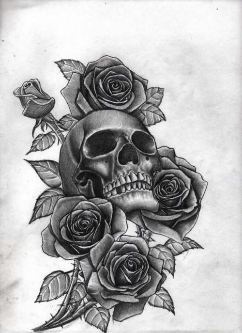 Black Rose Wallpaper As Well As Skull Wallpaper Black