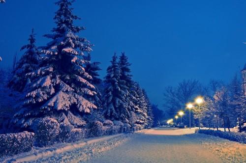 Norway Winter Night Snow Hills At Night 1822972 Hd